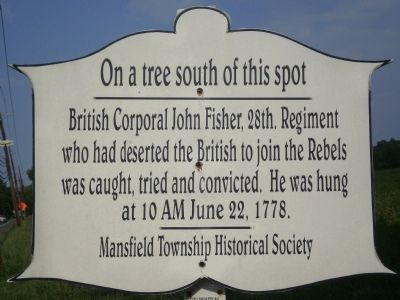 On a tree south of this spot Marker image. Click for full size.