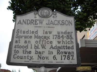 Andrew Jackson Marker image. Click for full size.