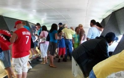 Inside the Gateway Arch Viewing Area image. Click for full size.