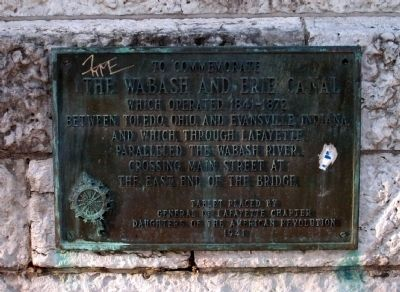 To Commemorate The Wabash and Erie Canal Marker image. Click for full size.