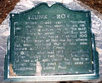 Skunk Grove Marker image. Click for full size.