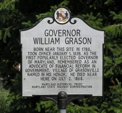 Governor William Grason Marker image. Click for full size.