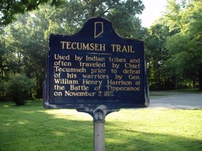 Tecumseh Trail Marker image. Click for full size.