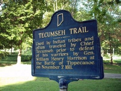 Obverse View - - Tecumseh Trail Marker image. Click for full size.