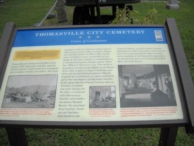 Thomasville City Cemetery Marker image. Click for full size.