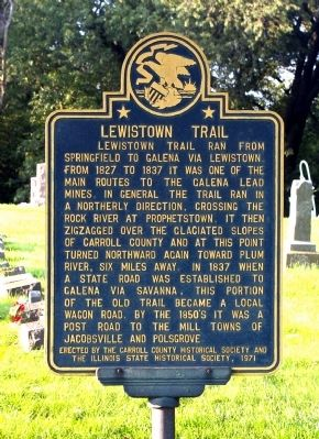 Lewistown Trail Marker image. Click for full size.