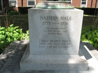 Nathan Hale Marker image. Click for full size.
