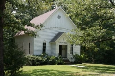 Closer view of the Shady Grove Methodist Church image. Click for full size.