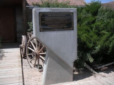 The Sante Fe Saloon Marker image. Click for full size.
