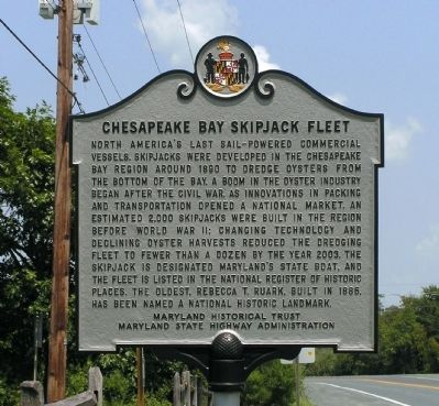 Chesapeake Bay Skipjack Fleet Marker image. Click for full size.