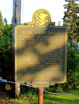 Plum River Falls Marker image. Click for full size.