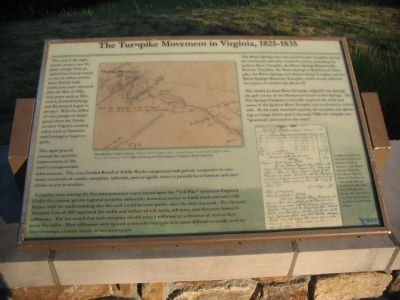 The Turnpike Movement in Virginia, 1825-1835 Marker image. Click for full size.