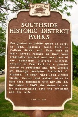 Southside Historic District Parks Marker image. Click for full size.