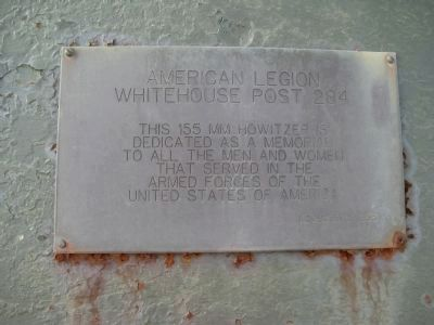 Plaque on Howitzer image. Click for full size.