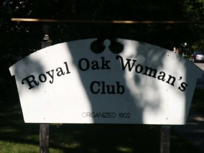 Royal Oak Woman's Club Sign image. Click for full size.