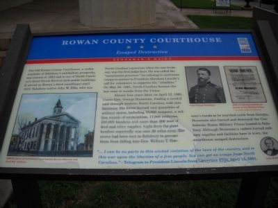 Rowan County Courthouse Marker image. Click for full size.