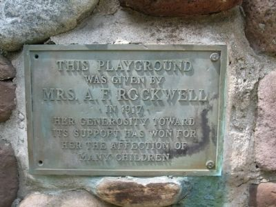Marker at the Playground Entrance image. Click for full size.