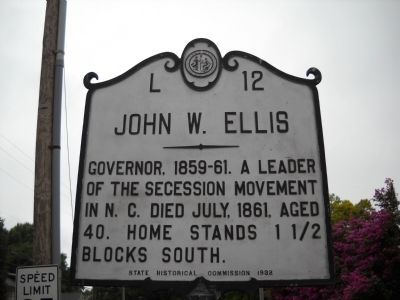 John W. Ellis Marker image. Click for full size.