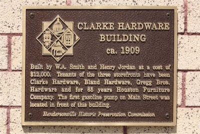 Clarke Hardware Building Marker image. Click for full size.