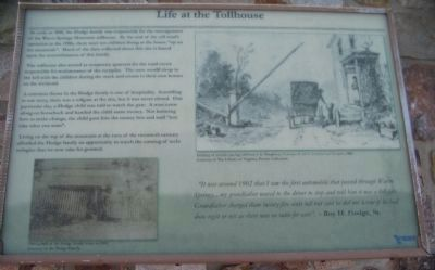 Life at the Tollhouse Marker image. Click for full size.