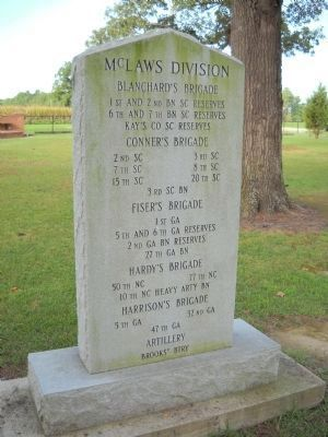 Confederate Soldiers of McLaws Division Marker image. Click for full size.