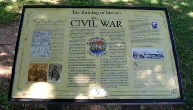 The Burning of Nevada Marker image. Click for full size.