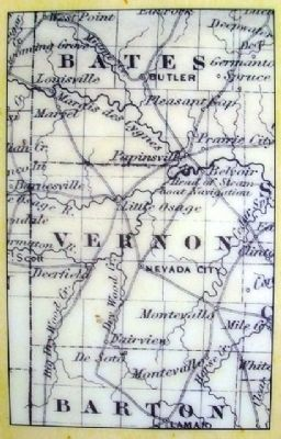 19th Century Vernon County Map (on Marker) image. Click for full size.
