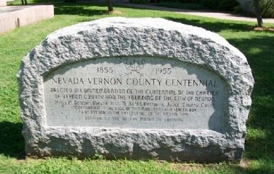 Nevada - Vernon County Centennial Marker image. Click for full size.