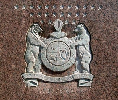 Missouri Coat of Arms on Stone Memorial image. Click for full size.