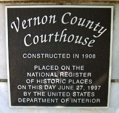 Vernon County Courthouse Marker image. Click for full size.