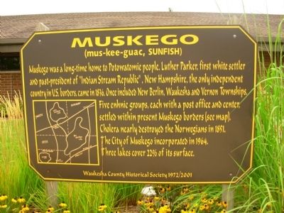 Muskego Marker image. Click for full size.