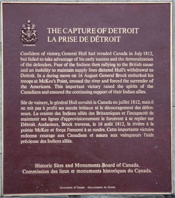 The Capture of Detroit Marker image. Click for full size.