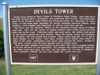 Devils Tower Marker image. Click for full size.