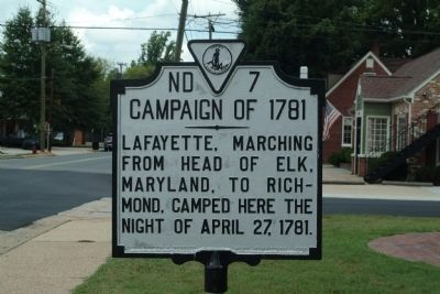 Campaign of 1781 Marker image. Click for full size.