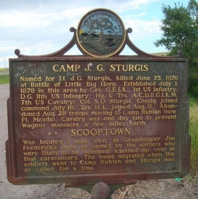 Camp J.G. Sturgis / Scooptown Marker image. Click for full size.