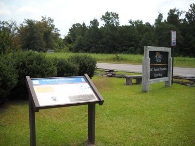 Marker at N.C. Junior Reserve Tour Stop image. Click for full size.