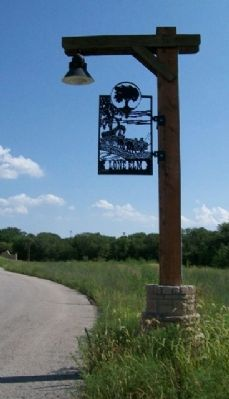 Lone Elm Park Street Light and Sign image. Click for full size.