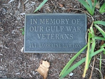 """Gulf War"" Plaque - - Under South Center Section image. Click for full size."