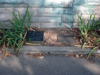 Two Small Plaques under North Center Section image. Click for full size.