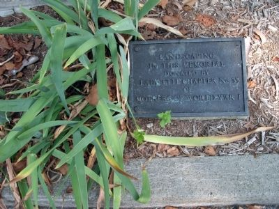 Left Plaque - 'Landscaping' - - Tippecanoe County War Memorial Marker image. Click for full size.