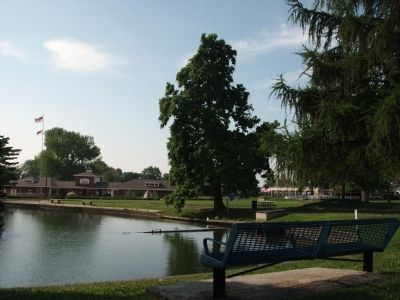 Columbia Park Lagoon - - Tippecanoe County War Memorial Marker image. Click for full size.