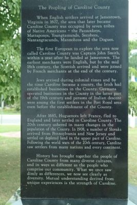 The People of Caroline County Marker image. Click for full size.