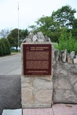 Fort Amherstburg (Fort Malden) Marker image. Click for full size.
