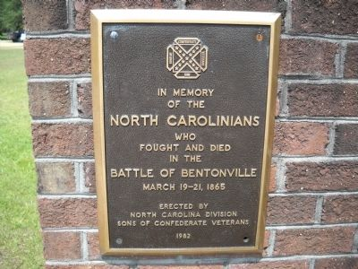 North Carolinians at the Battle of Bentonville Marker image. Click for full size.