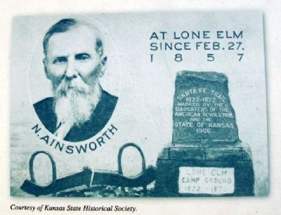 Ainsworth Postcard on Trail To Park Marker image. Click for full size.