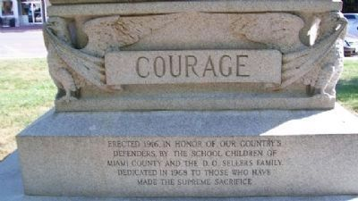 Paola Veterans' Memorial - Courage image. Click for full size.
