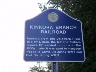 Kinkora Branch Railroad Marker image. Click for full size.