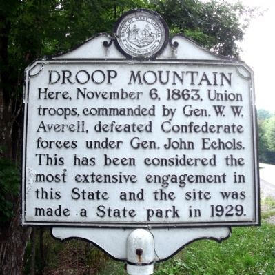 Droop Mountain Marker image. Click for full size.