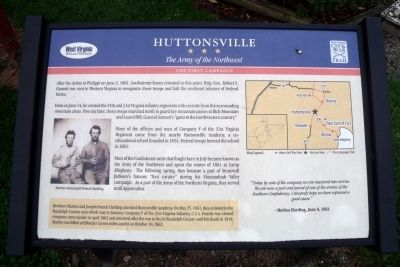 Huttonsville CWT Marker image. Click for full size.