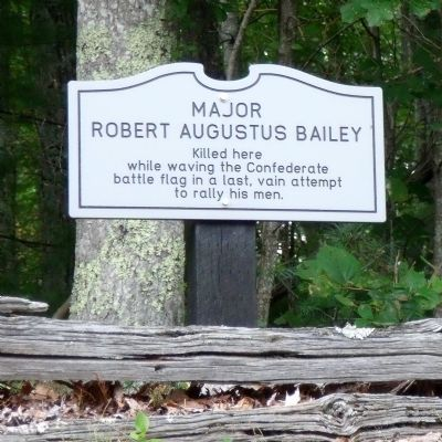 Major Robert Augustus Bailey Marker image. Click for full size.